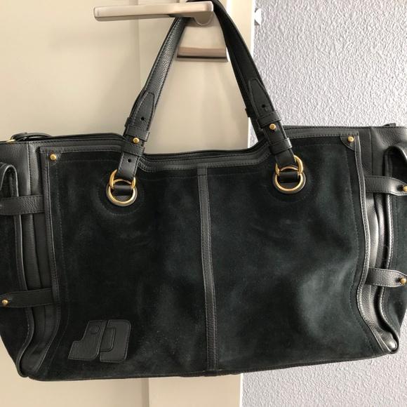 Jerome Dreyfuss Handbags - Jerome Dreyfuss Pebbled Leather/Suede tote bag